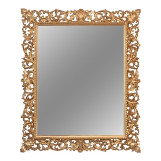 20th Century Mediterranean Carved Giltwood Mirror