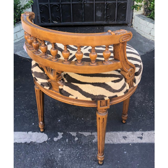 Antique Regency Style Low Boudoir Chair W Clarence House Zebra