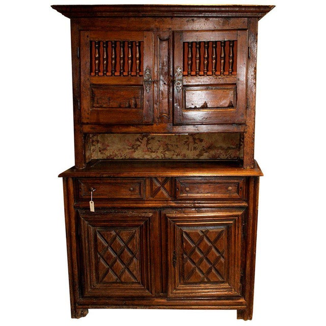 19th Century French Walnut 4 Door Cabinet For Sale - Image 11 of 11