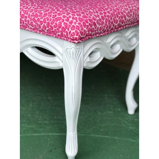 Coastal Regency White Lacquered and Pink Cheetah Bench Preview