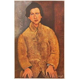 "1947 Amedeo Modigliani Original Lithographic ""Portrait De Soutine"" For Sale"