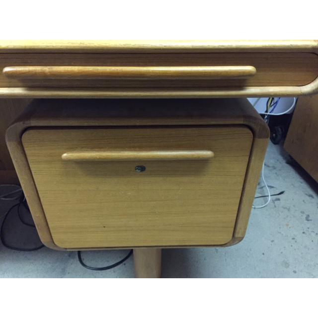 Scan Design Kibaek Mobelfabrik Teak Desk For Sale - Image 5 of 5