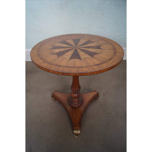 Brown Maitland Smith Inlaid Top Regency Style Table For Sale - Image 8 of 10