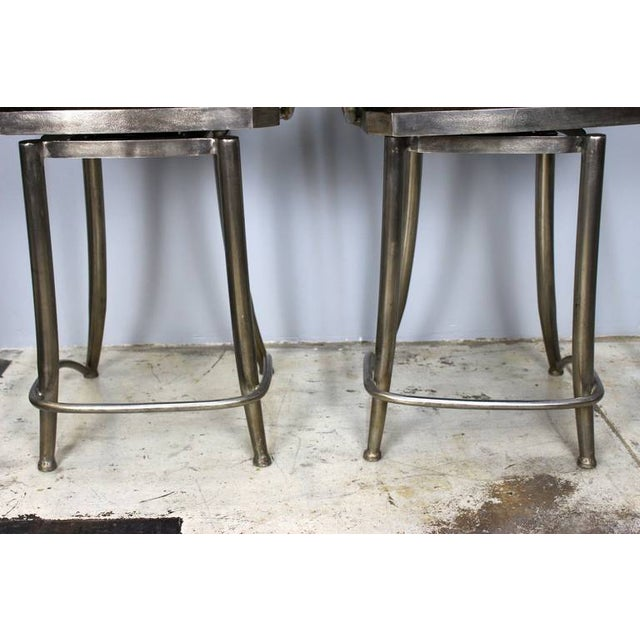 Bar Stools With Swivel Seat - Pair - Image 3 of 5