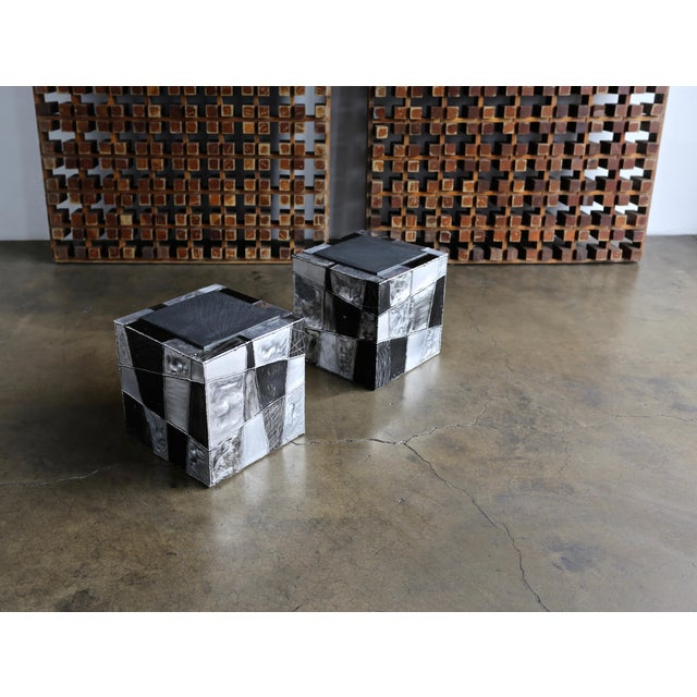 "Mid-Century Modern Paul Evans ""Argente"" Cube Side Tables For Sale - Image 3 of 13"