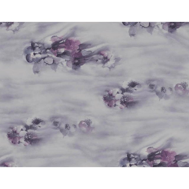 Art Deco Iridescent Shimmer in Blue, Pink and Lilac Watercolor Floral Wallpaper - 1 Double Roll For Sale - Image 3 of 3
