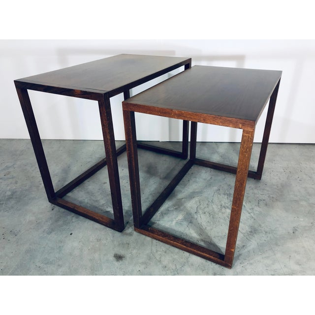 Karl-Erik Ekselius Nesting Tables for j.o. Carlsson - 2 Pieces For Sale - Image 9 of 13