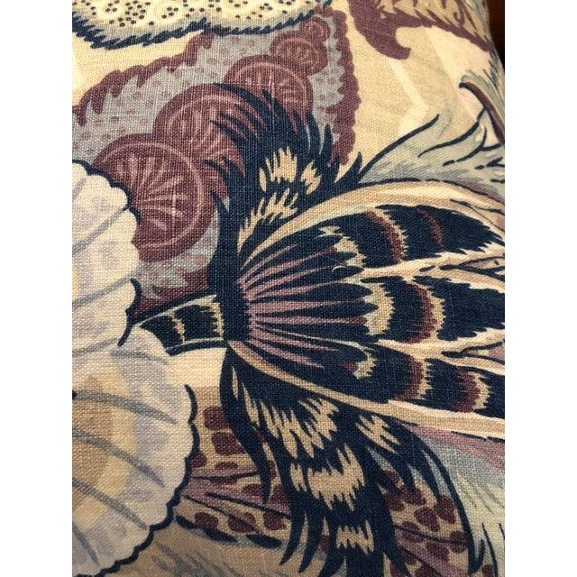 Schumacher Zanzibar Hyacinth Linen Pillows - A Pair For Sale In Boston - Image 6 of 7