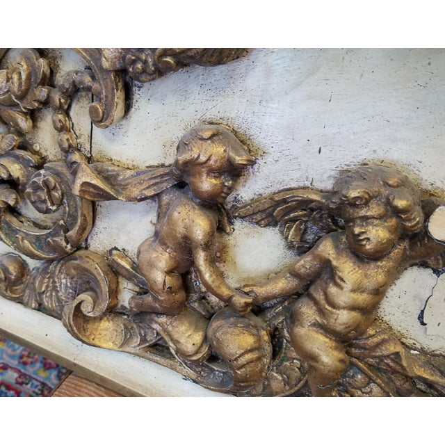 Antique Italian 19th Century Carved Wood Gilded Cherub Putti Panel - Image 9 of 11