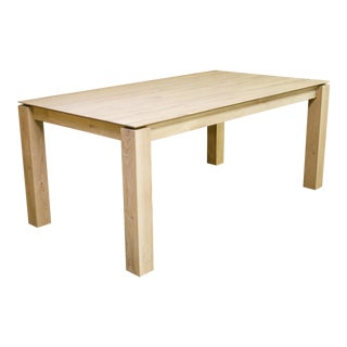 "Contemporary Ethnicraft Oak ""Slice"" Dining Table For Sale"