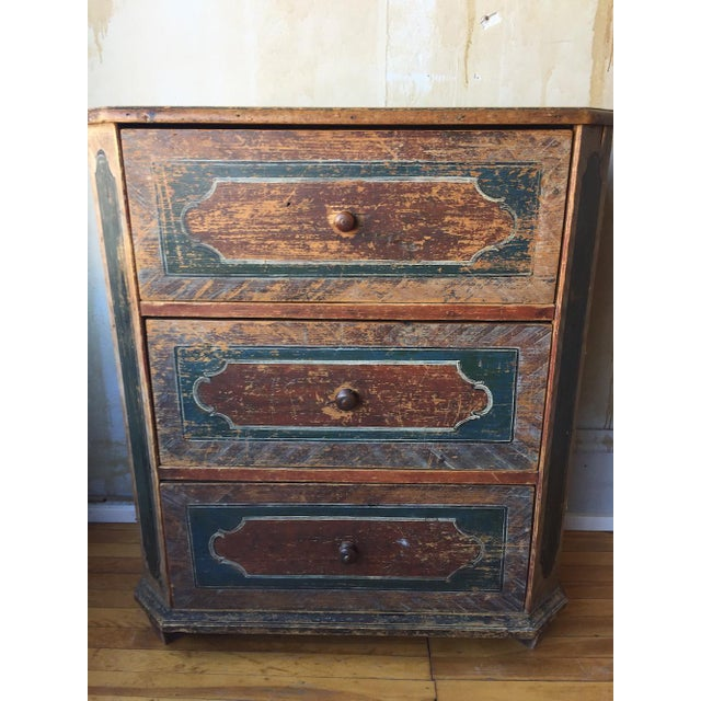 Turquoise Small Arte Povera Chest of Drawers For Sale - Image 8 of 11