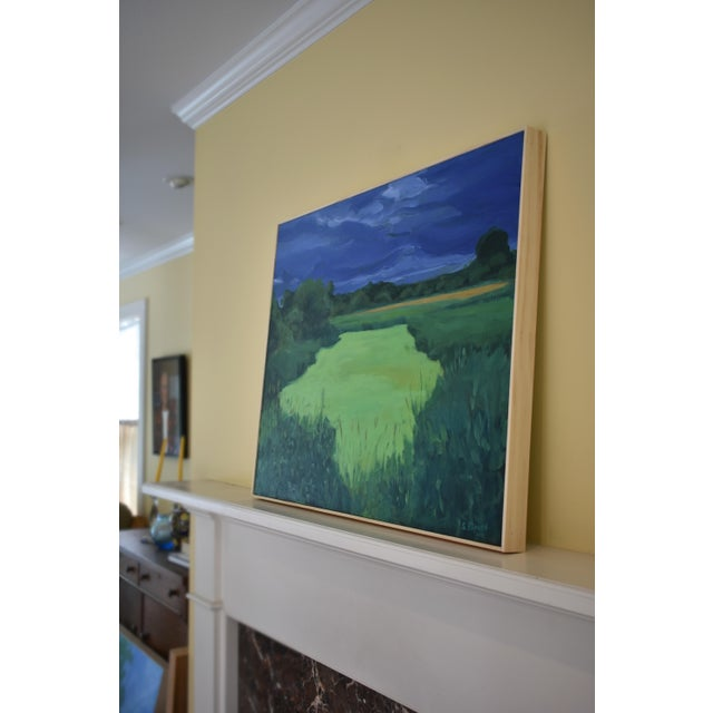 """""""Glowing Green ~ Algae Covered Pond"""" Painting For Sale - Image 9 of 13"""