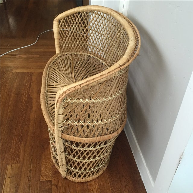 Vintage Child's Wicker Bench - Image 4 of 6