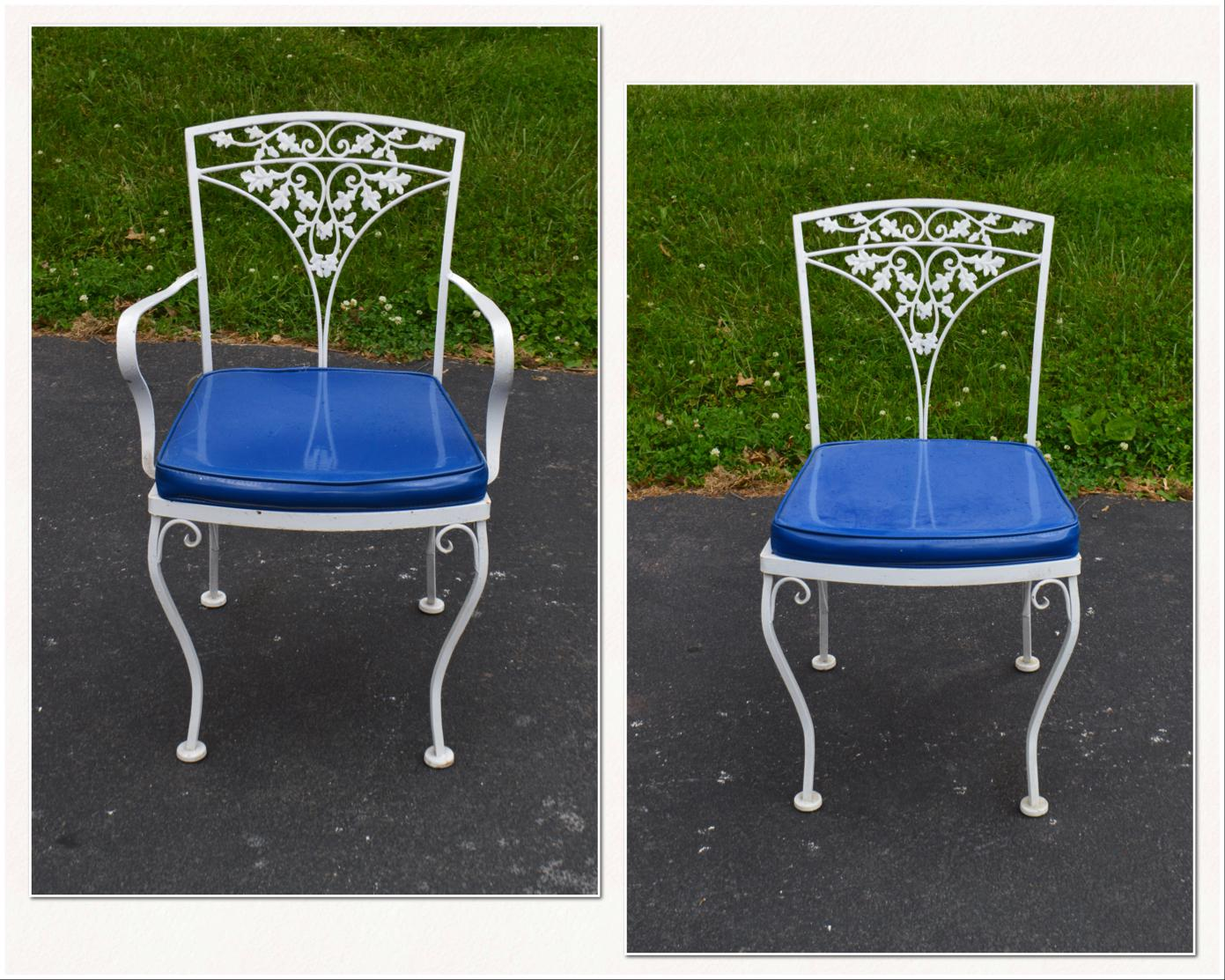 White wrought iron garden furniture Victorian store Item 18257 Woodard Ivy Vintage White Wrought Iron Patio Glass Top Table Heritagehymnsinfo Woodard Ivy Vintage White Wrought Iron Patio Glass Top Table
