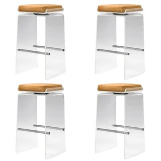"Set of Four ""Waterfall"" Barstools by Charles Hollis Jones For Sale"