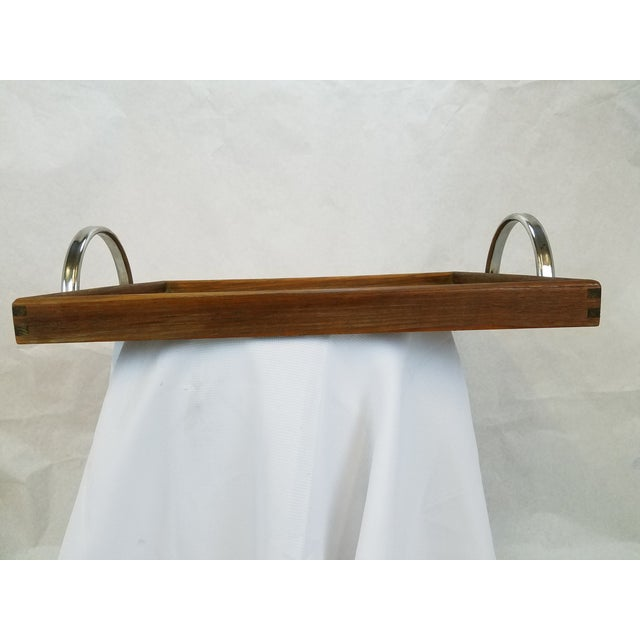 Danish Modern Teak Tray With Chrome Handles - Image 5 of 5