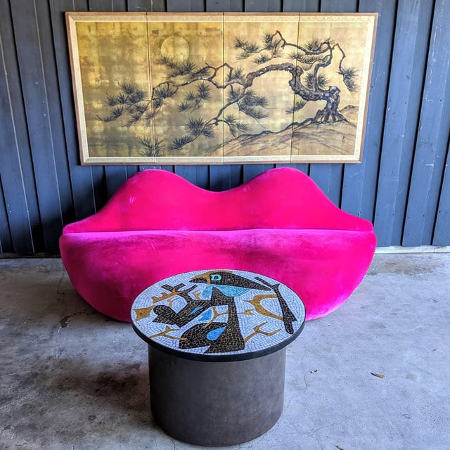 Artisan Midcentury Modern Mosaic Table For Sale In Dallas - Image 6 of 13