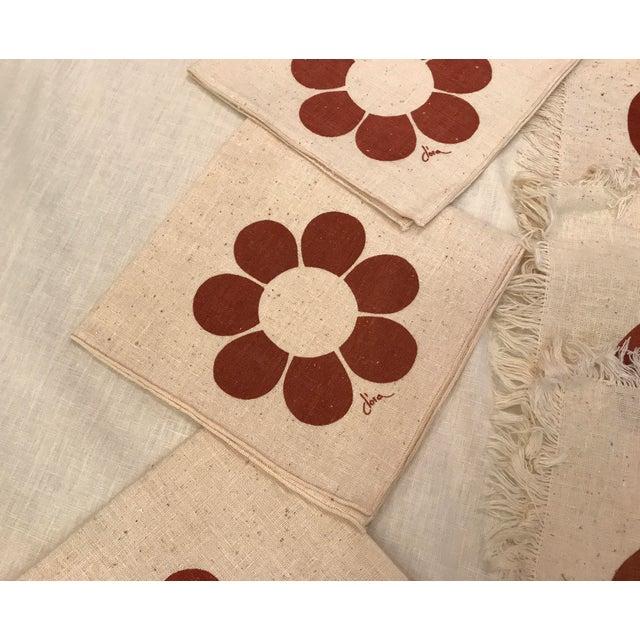 Vintage Floral Placemats & Napkins - Set of 8 For Sale - Image 4 of 10