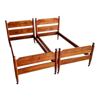 1940's Modern Farmhouse Maple Twin Beds, a Pair For Sale