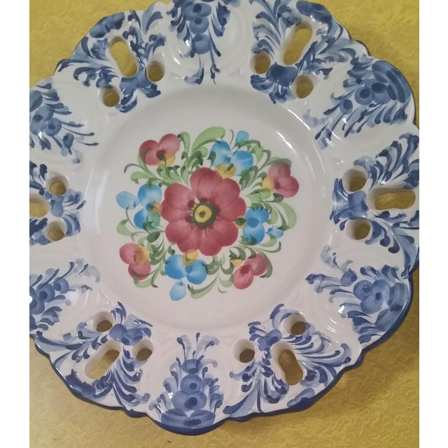 Vintage Jay Willfred Portugal Hand Painted Porcelain Plates - Set of 4 For Sale In New York - Image 6 of 10