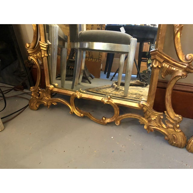 Chippendale Style Mid Century Hand Carved Gilt Italian Rococo Mirrors - a Pair For Sale In Minneapolis - Image 6 of 11