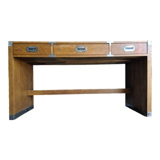 Campaign Desk by Bernhardt For Sale