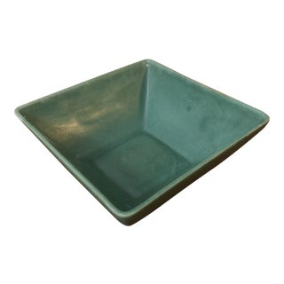 Vintage Royal Haeger Green Square Shaped Bowl