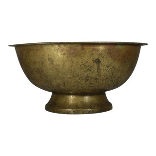 Antique Large Brass Bowl