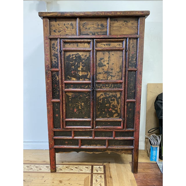 Late 19th Century Chinese Lacquered Armoire For Sale - Image 9 of 9