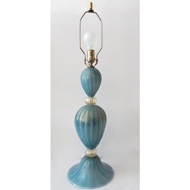 Turquoise Murano Glass Table Lamp - Image 4 of 7