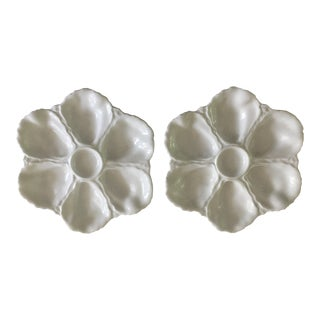 19th Century Porcelain Limoges Oyster Plates - a Pair For Sale