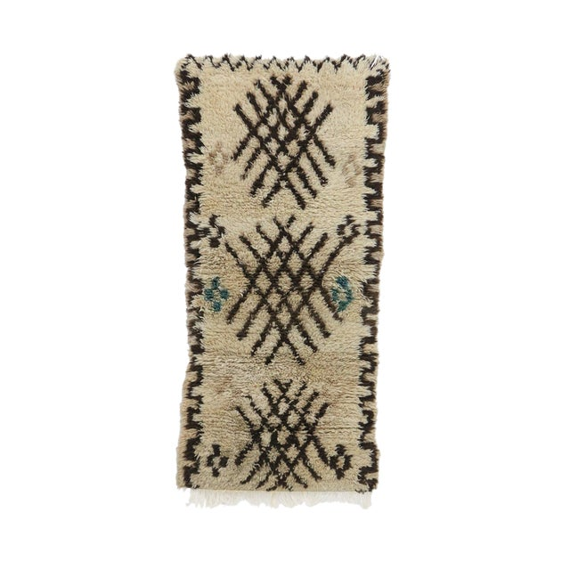 "Azilal Vintage Moroccan Rug, 2'9"" X 6'2"" Feet For Sale"