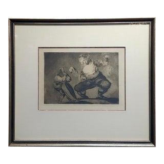 Francisco De Goya 'Bobalicón' Proverbio N.4 -Etching on Paper For Sale