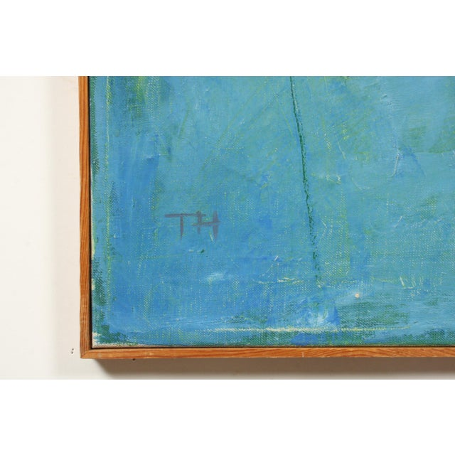Mid 20th Century Mid-Century Blue Square Abstract Tommy Hansen For Sale - Image 5 of 10