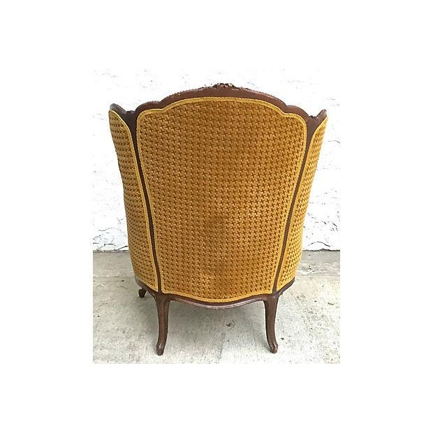 Antique Houndstooth Velvet Fauteuil - Image 5 of 10