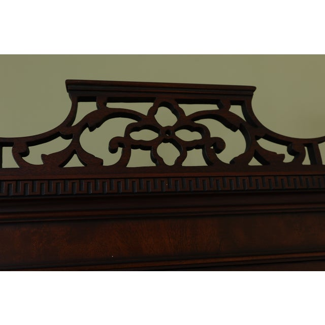 Brown Kittinger Vintage 1940s Era Inlaid Mahogany Breakfront For Sale - Image 8 of 13