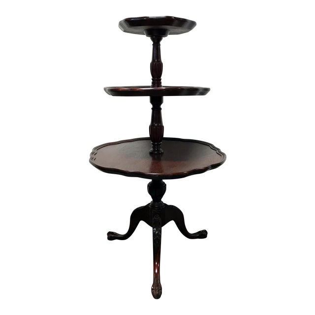 Vintage Mersman 3-Tier Mahogany Table - Image 1 of 10
