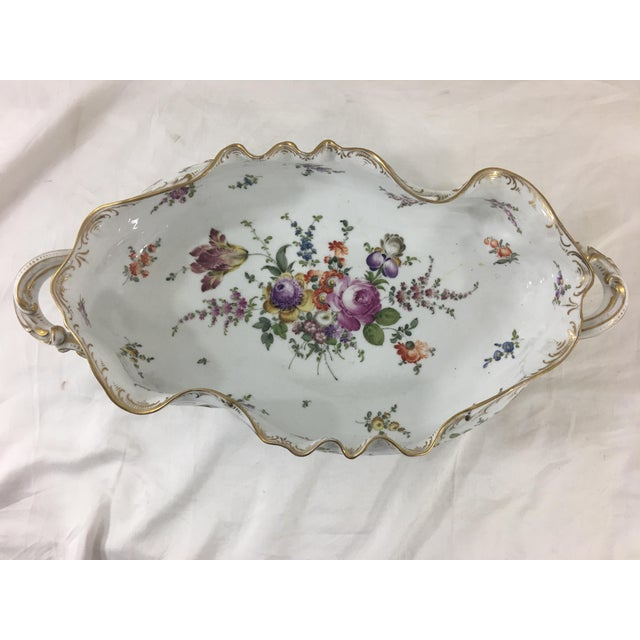 Dating from between 1870 to 1900, this beautiful centerpiece is exquisitely decorated with flowers. No chips or cracks,...