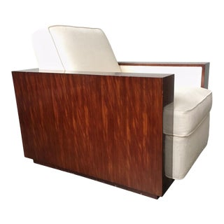 Contemporary Art Deco Ralph Lauren Metropolis Collection Rosewood Club Chair by Herendron For Sale
