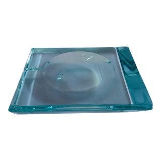 Beveled Glass Ashtray by Fontana Arte For Sale