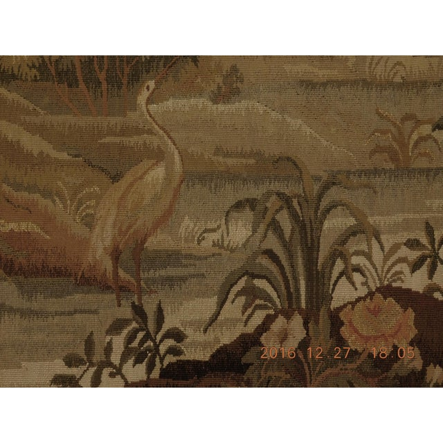 """Ceramic Chineses Abusson Style Tapestry. 4'x 5'8"""" For Sale - Image 7 of 10"""