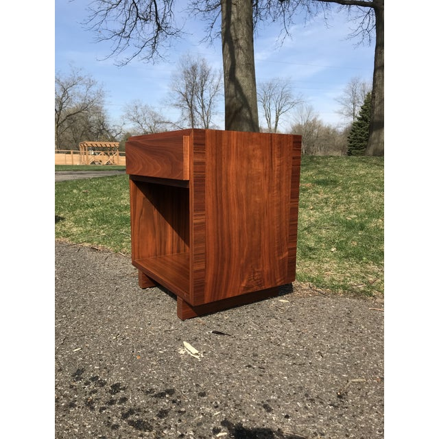 Contemporary Mid Century Walnut Side Table by Widdicomb For Sale - Image 3 of 7