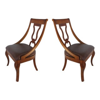 Traditional Accent Chairs, Pair