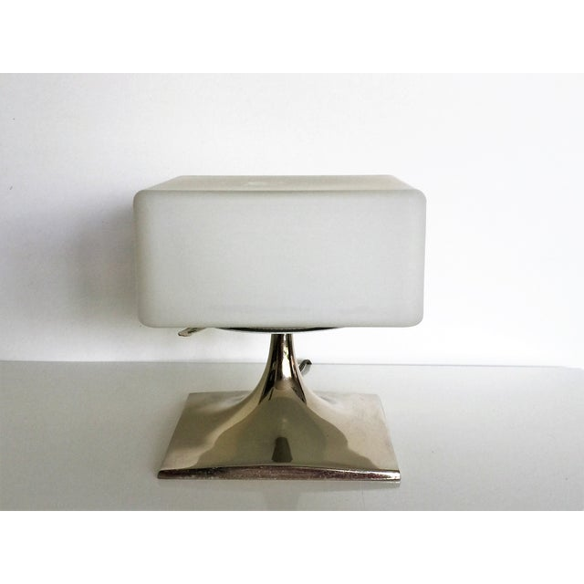 Mid-Century Square Laurel Lamp - Image 4 of 4