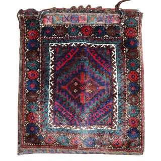 1900s Persian Kurdish Bag - 1.6' X 1.9' For Sale