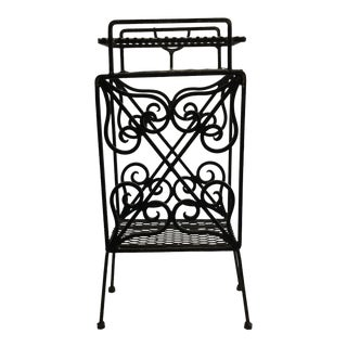 Wrought Iron Telephone Stand