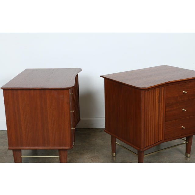 Refinished Walnut Side Tables Nightstands - A Pair - Image 11 of 11