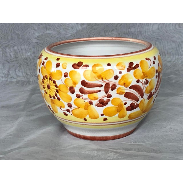 Vintage Italian Ceramic Pottery Indoor Planter For Sale - Image 12 of 13