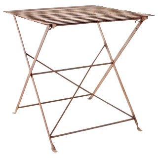 French Folding Iron Garden Table Bistro Dining Table For Sale