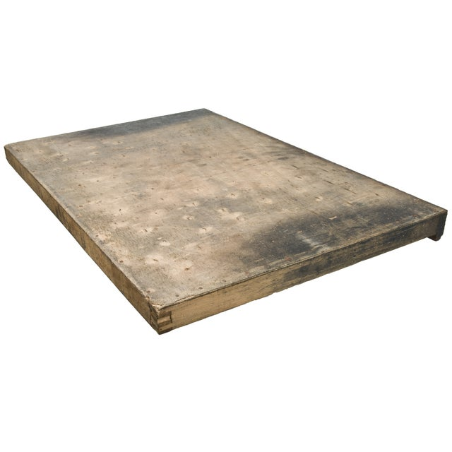 Vintage French Wood Printer's Type Tray - Image 5 of 5
